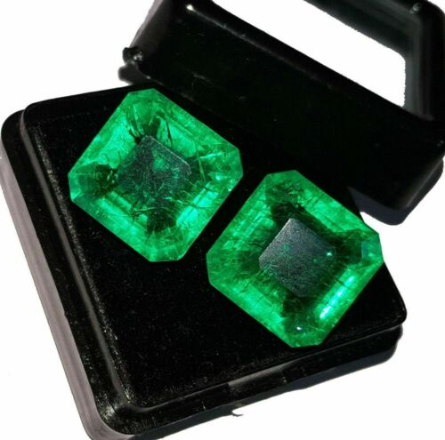 Natural Loose Gemstone 8 to 10 cts each Certified Emeralds Pair T170