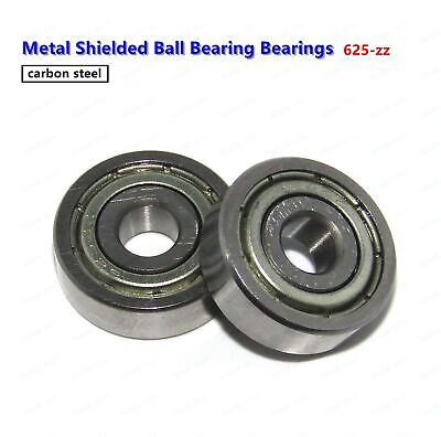 10 Pcs 625zz 5165 5x16x5mm Metal Shielded Ball Bearing Bearings