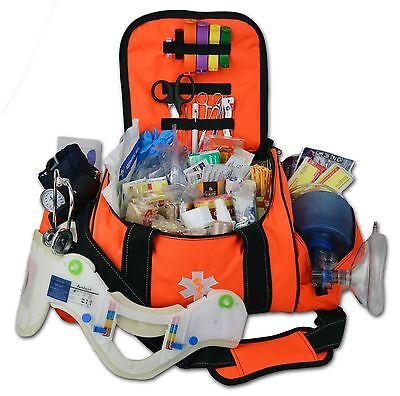 Lightning X Deluxe Stocked Large Emt First Aid Trauma Bag Fill Kit W Supplies O