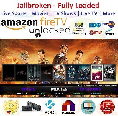 New Amazon Fire Tv Stick Unlock    Alexa Voice Remote  Kodi 17 6 Premium Build