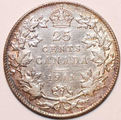 1911 Canada 25c Canadian Silver Quarter  # 0032
