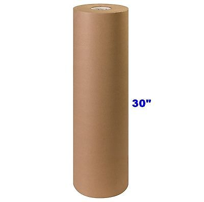 """30"""" x 900' Brown Kraft Paper Roll 40# lb Shipping Wrapping Packaging Cushioning"""