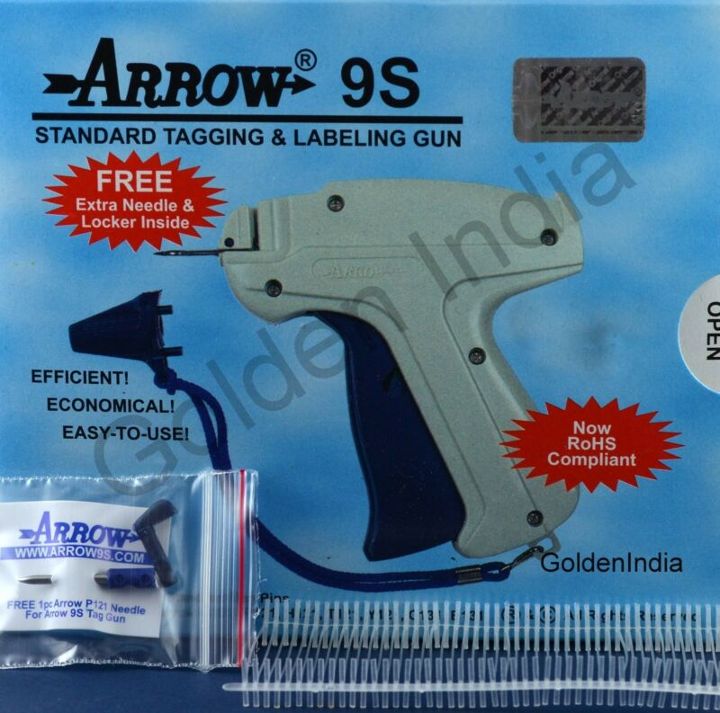 "Arrow Price Tag Gun Extra Needle 1000 3"" WHITE Barbs Clothing Tagging Attacher"