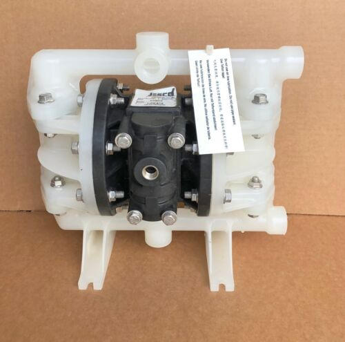 "Jesco 1/2"" Air Diaphragm Pump LJPE-B1/2  Polypropylene Body w Santoprene Diaphrm"