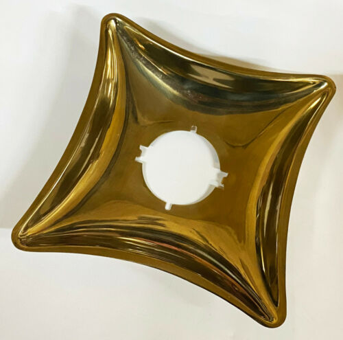 Vintage Mid Century Modern Diamond Russwin Brass SAPPHIRE DOOR ESCUTCHEON NOS