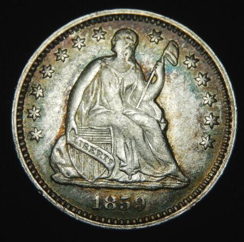 1859 O Liberty Seated Half Dime - AU !!