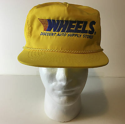 WHEELS Discount Auto Supply Stores Slide Clip Back Otto Cap One Size TRUCKER HAT