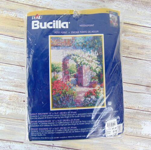 "Bucilla Plaid 4825 Sunlit Archway 12"" x 16.5"" Needlepoint Kit Persian Wool Yarn"