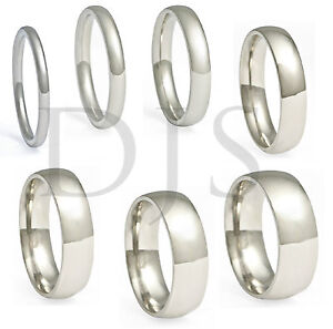 316L-Stainless-Steel-Ring-Plain-Wedding-Band-Men-Women