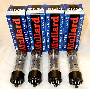 Mullard Platinum Factory Matched QUAD EL-34 EL34 6CA7 tubes  NEW