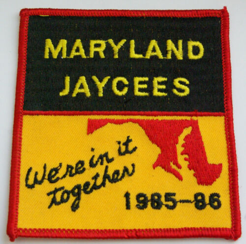 Vintage Jaycees Maryland Patch 1985 Were in it Together Never Used