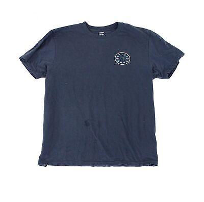 Billabong Mens T-Shirt Blue Size Large L Logo Graphic Crewneck Tee $30- 012