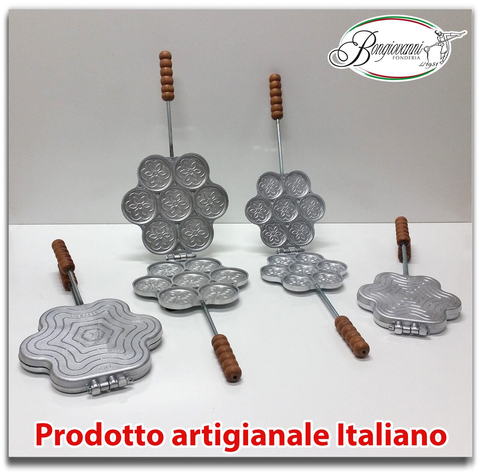 Tigelliera in alluminio 7 posti per tigelle da 8,5 cm e da 6,5 cm + ricetta