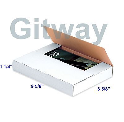 50 - 9 58 X 6 58 X 1 14 Multi Depth Cardboard Book Mailer Shipping Box Boxes