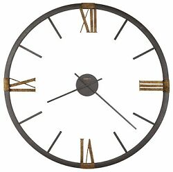 625-570 PROSPECT PARK 60 625570 OVERSIZED METAL WALL CLOCK - HOWARD MILLER