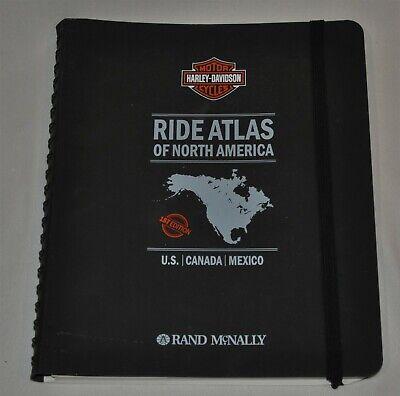 Rand McNally Harley Davidson Motorcycles Ride Atlas Of North America 1st Edition