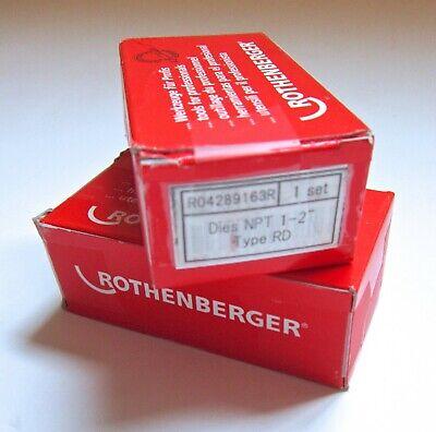 Rothenberger 89163 Ridgid 47750 Dies 1-2 Inch Npt