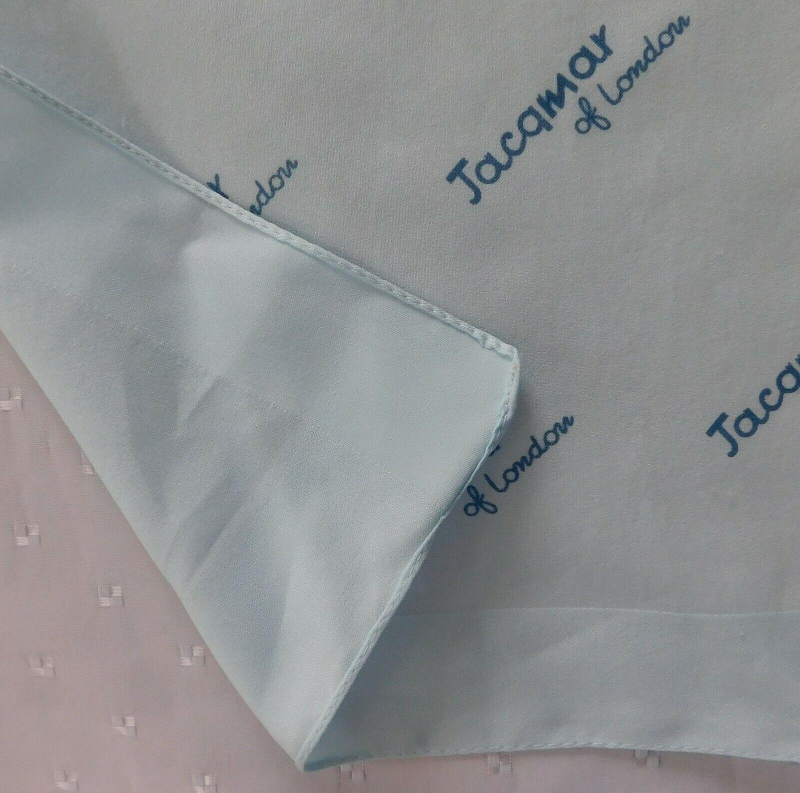 "Vintage Jacqmar of London scarf 19"" square pale blue ks"