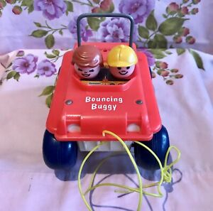 JOUET BOUNCING BUGGY FISHER-PRICE VINTAGE 1973