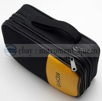 Double Layer Zipper Case Bag Use For Fluke 87-v 931 941 115 116 117 175 179 177