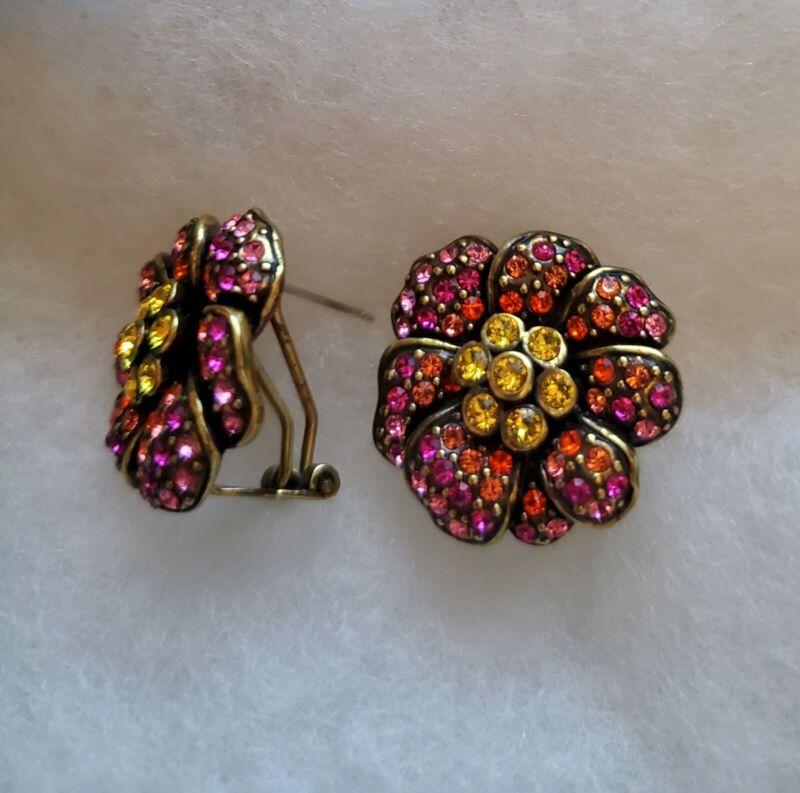 Heidi Daus Flower Prcd Earrings
