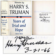 Signed Harry S. Truman