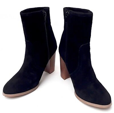 HOUSE OF HARLOW -Black Suede High Heel Ankle Boots - UK3.5 - Excellent Condition