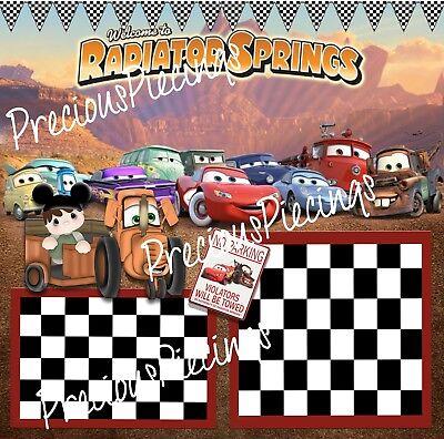 Ellite4U Radiator Springs Disney Digital Scrapbook Page + Bonus Paper Piecing