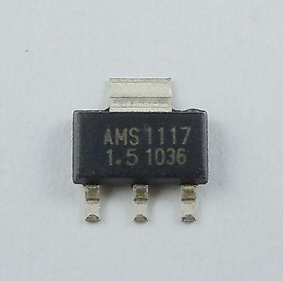 10pcs New Ams1117 1.5v 1a Voltage Regulator Sot-223