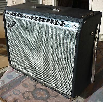 Fender Pro Reverb 2x12 Vintage Silverface Guitar Tube Amplifier Amp