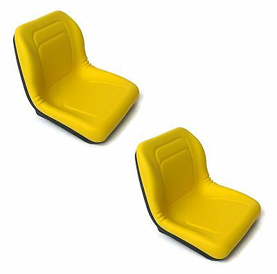 (2) Two Yellow SEATS for John Deere Gator 4x2 4x4 4x6 Diesel Trail Worksite Turf