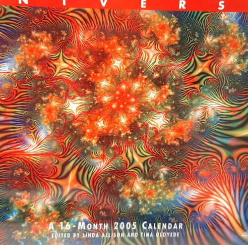 Sealed 2005 Fractal Universe Wall Calendar 16 Months Oversize Science Art Blend