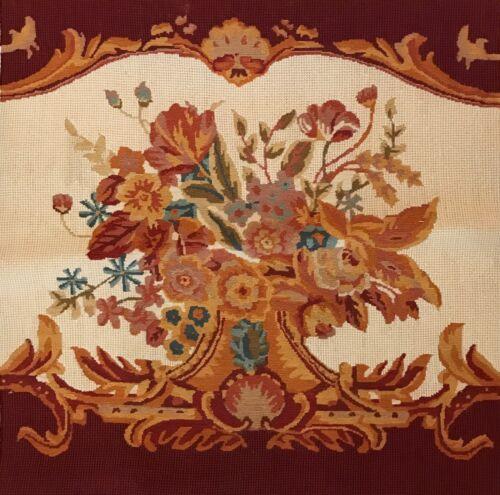 Antique Floral Design Needlepoint