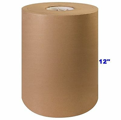 "12"" x 1200' Brown Kraft Paper Roll 30lb Shipping Wrapping Packaging Cushioning"