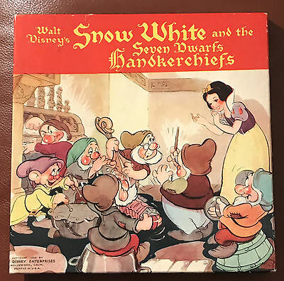 WALT DISNEY'S  SNOW WHITE AND THE SEVEN DWARFS  HANDKERCHIEFS  BOXED  1938