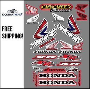 For Honda XR250 XR400 XR600 XR650 Sticker Kit XR 250 400 600 650 Decal Stickers