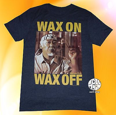 New The Karate Kid Wax On Wax Men's Mr. Miyagi 1984 Vintage T-Shirt (Karate Kid Mr Miyagi)