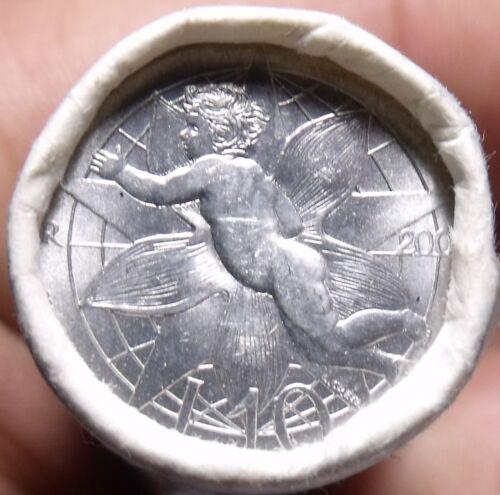 Gem Unc Original Roll (50) San Marino 2000-R 10 Lire Coins~LOVE COIN~Free Ship