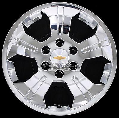 "4 Chrome 2014-2017 Silverado 1500 18"" Wheel Skins Hub Caps Alloy Rim Full Covers"