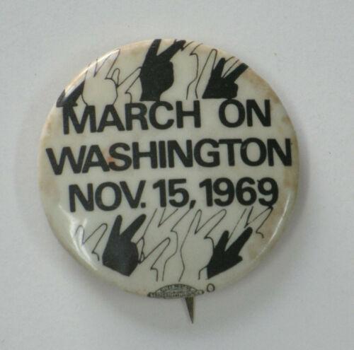 Anti Vietnam War Pin - March on Washington 1969