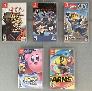 Switch Games - Kirby Allies/Arms/South Park/Lego City