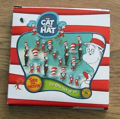 New 18 Dr. Seuss The Cat in the Hat Figurine Ornaments