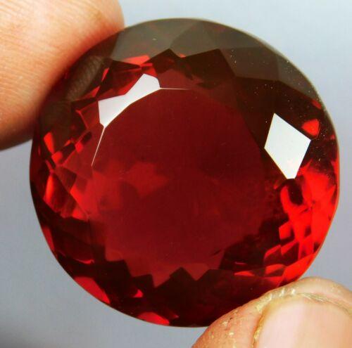 70.75 CT Natural Beautiful Round Cut Brazilian Red Topaz Loose Gemstone