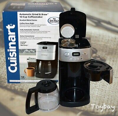 Cuisinart Automatic Grind & Brew 12 Cup Automatic Coffee Maker DCC-1250 w/