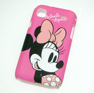 Pink Minnie Mouse Designs Hard Cover Case Skin for Samsung Galaxy S i9000