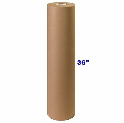 36 X 900 Brown Kraft Paper Roll 40 Lb Shipping Wrapping Packaging Cushioning