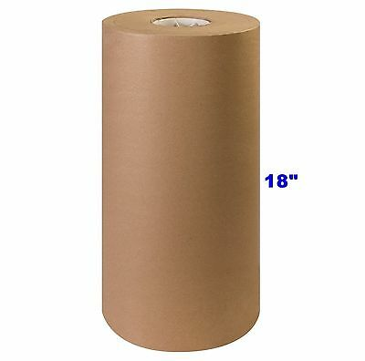 18 X 900 Brown Kraft Paper Roll 40 Lb Shipping Wrapping Packaging Cushioning