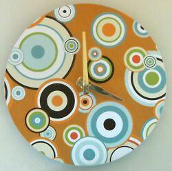 Small modern wall clock. Handmade by US artisan. Art clock.