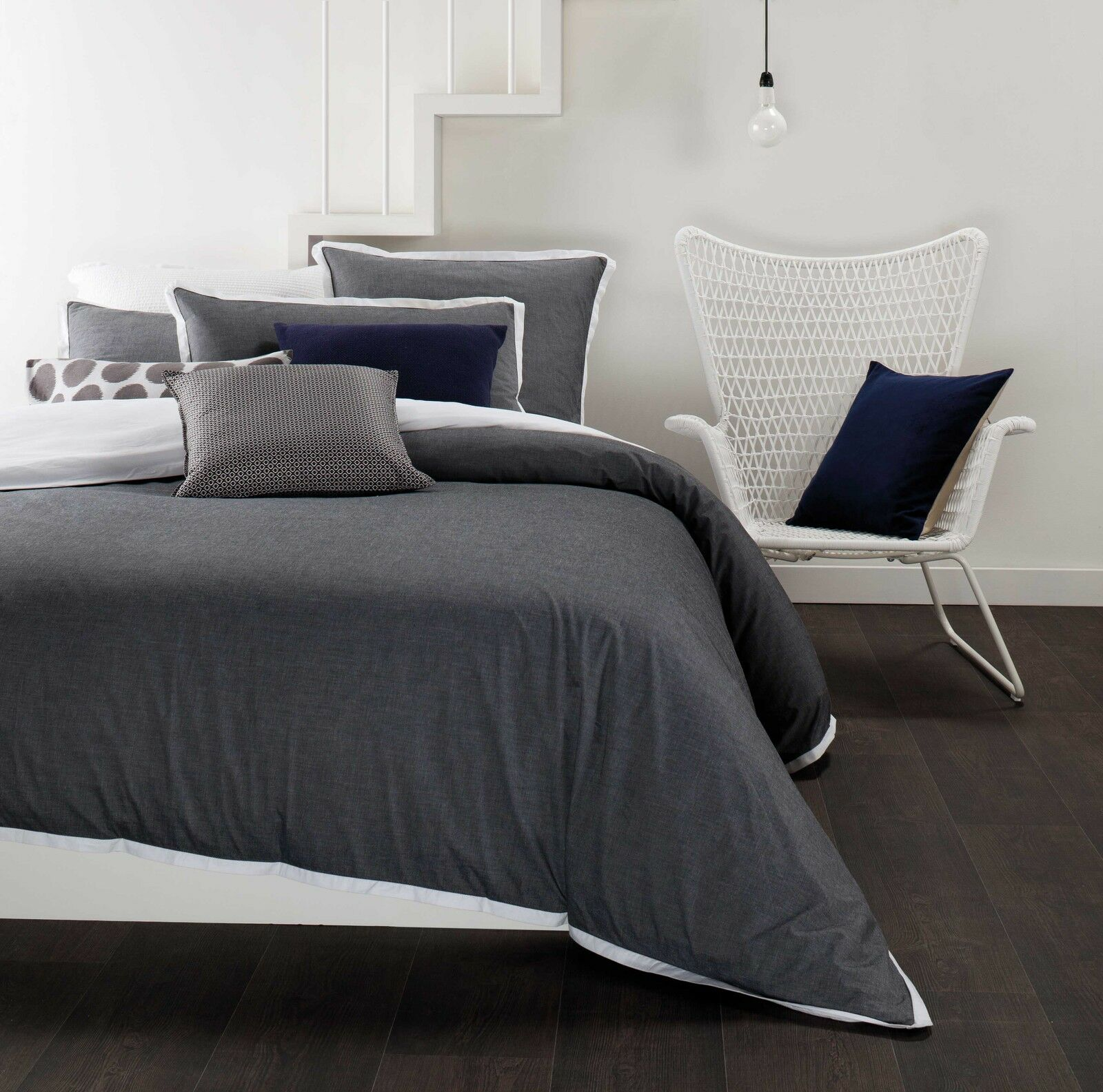 fringe dove linen in aura duvet boutique chambray product cover
