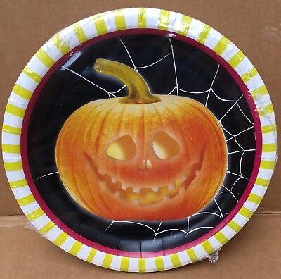 Halloween 22cm Cake -Dessert Paper Party Plates free UK PP (Halloween Desserts Uk)